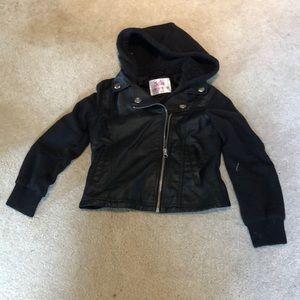 Black leather jacket NWOT